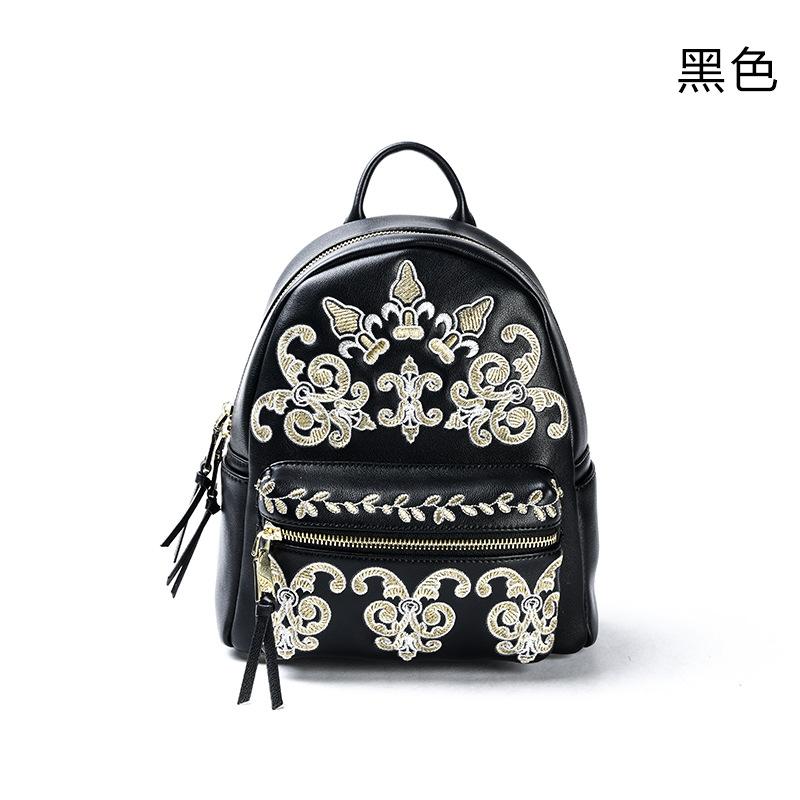 时尚韩版刺绣双肩背包女